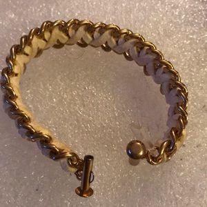 Vintage leather Mikay love bracelet